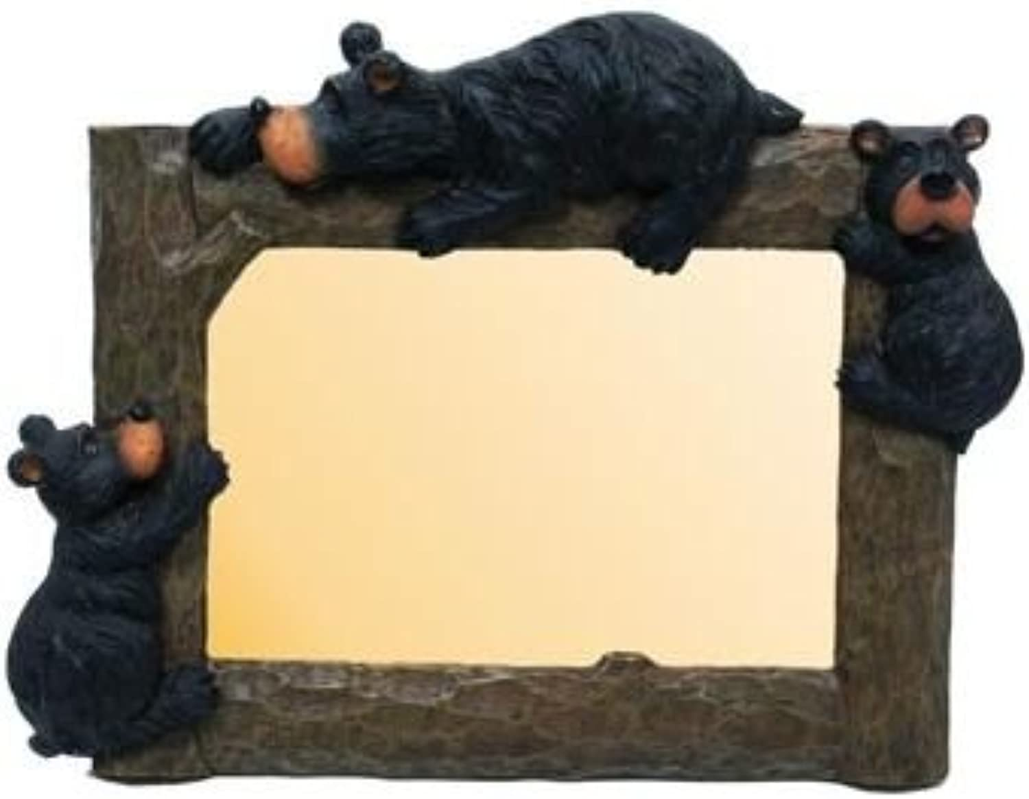 Willie Black Bear with Cubs Photo Picture Frame, 4x6, Horizontal, 9inch