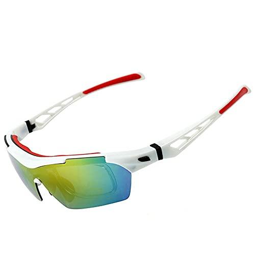 Mifty Gafas De Sol Deportivas Gafas De Ciclismo para Hombres Y Mujeres, Gafas De Visión Nocturna, Gafas De Sol A Prueba De Arena, Ciclismo, Carrera, Voleibol De Playa Y Senderismo (Color : Black Red)