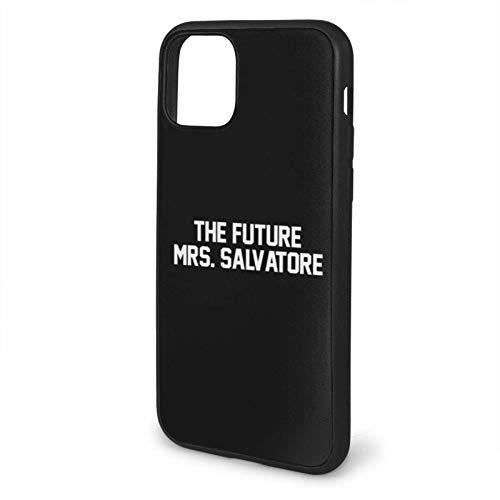 Compatibile con iPhone 12/11 PRO Max 12 Mini SE X/XS Max XR 8 7 6 6s Plus Custodie The Future Mrs. Salvatore- White Nero Custodie per Telefoni Cover