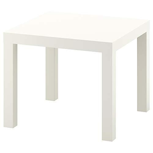 Ikea Mesa Auxiliar, Madera, Blanco, 55x55x45 cm ✅