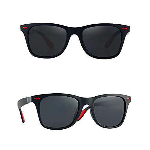 24 JOYAS Gafas de Sol Polarizadas Estilo Clásico con Funda elegante para Mujer y Hombre (Rojo)