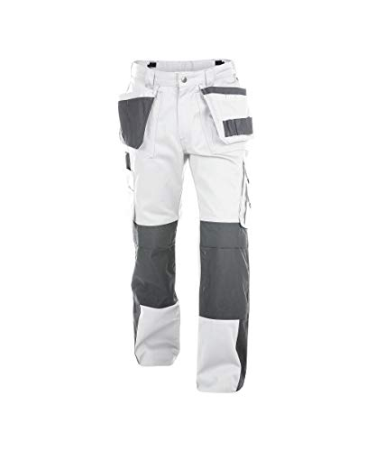 Dassy Unisex-Erwachsener Pantaloni Hose, Wei/Grau, 50