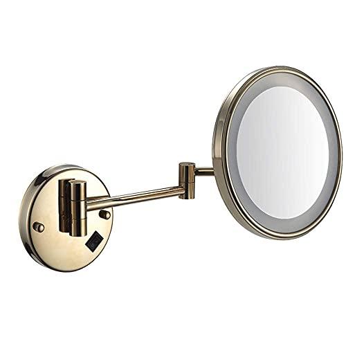 NHLBD LIHAIHAI Beautiful Fashion Espejo de vanidad LED Iluminado 8 Pulgadas Espejos de Maquillaje de Doble Cara impulsados por Enchufe o Carga (Color : D)