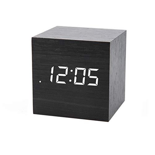 ADMOS Reloj de Coche Mini Reloj Despertador Cuadrado Control de Voz Temporizador Calendario Luminoso Parabrisas Accesorios de Coche