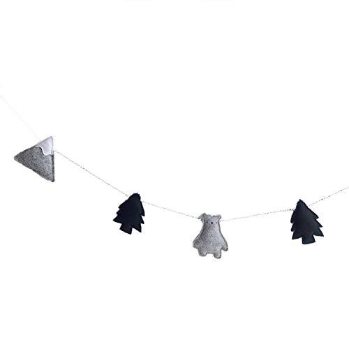 Guirnalda de banderines de Fieltro nórdico, decoración de Pared para habitación de niños, super1798