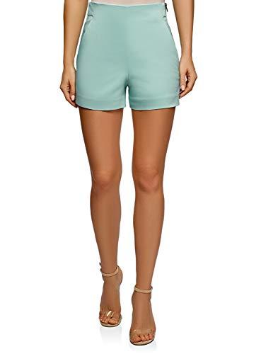 Pantalones cortos Oodji en forma de trapecio, cremallera lateral disponible en varios colores