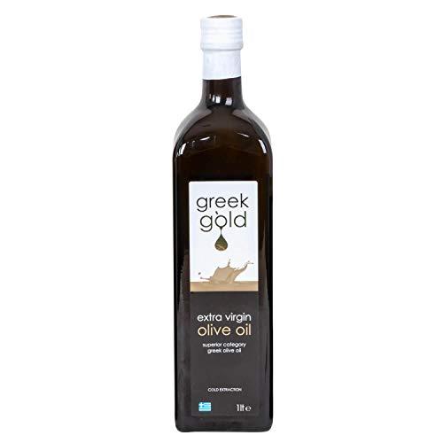 Greek Gold - Griekse premium extra vierge olijfolie van Peloponnesos, koudgeperst | 1 liter fles | voor frituren, koken en bakken