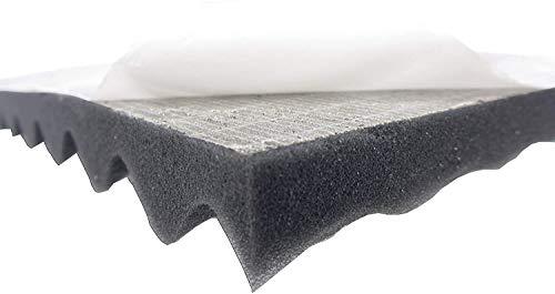 Dibapur Noppenschaumstoff SELBSTKLEBEND Akustikschaumstoff 100x200x3 cm Schall Dämmung zur effektiven Akustik Dämmung