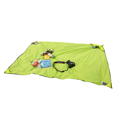 Tinffy Sandfree Beach Blanket - Cover 40 x 60in for 2 Adults - Best Sand Proof Picnic Mat for Travel, Camping, Hiking and Music Festivals - Durable Tarp with Corner Pockets