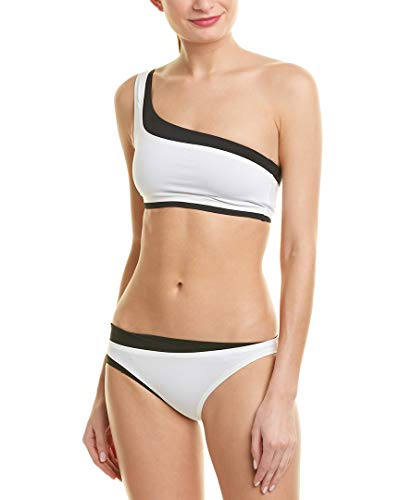 Proenza Schouler Layered Bikini Swimsuit Set (M) White