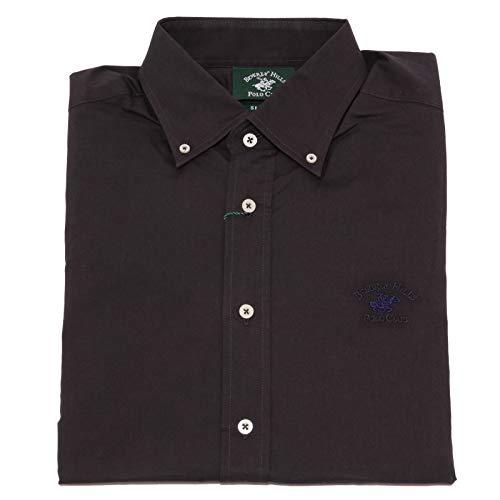 Beverly Hills Polo Club 7657K Camicia Uomo Dark Grey Shirt Cotton Man [L]