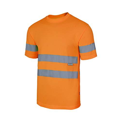 Velilla Serie 305505 T-Shirt Tecnica da Lavoro Alta visibilità Arancio Fluo (L)