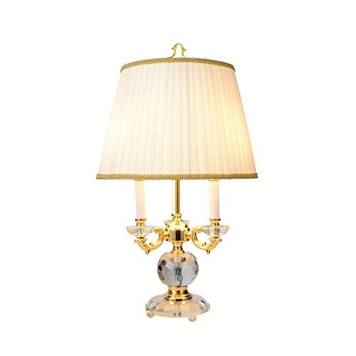 STERB Tela de Cristal Mesa de Cristal de la lámpara Base Glam cabecera lámparas de Escritorio, for el Dormitorio de la Sala