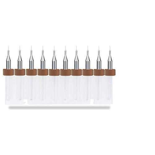 MKDLB 10Pcs 0.1mm Print Circuit Board Drill Bit Sharpening Drill Bits Import Carbide PCB Drill Bits Mini CNC Drilling Bit,1 Box(10pcs)