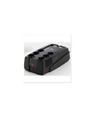 Riello iPlug 600VA 600VA Negro Sistema de alimentación ininterrumpida (UPS) - Fuente de alimentación Continua (UPS) (600 VA, 360 W, VRLA AGM, 8 h, Negro, 0-40 °C)