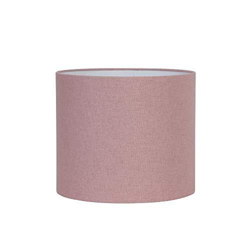 Light & Living Lampenschirm Zylinder Livigno - Rosa - Ø40 x 30 cm - Baumwolle/Leinen