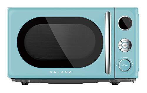 Galanz GLCMKA07BER-07 0.7 Retro cu. Ft. 700-Watt Countertop Microwave, Bebop Blue