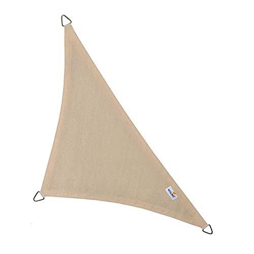 nesling Coolfit Sonnensegel (Dreieck 90° 4,0m x 4,0m x 5,7m, Altweiss) Sonnenschutz, Wasser und Wind durchlässig, UV-beständig