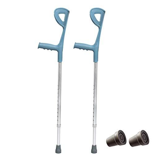 YWYW Muletas de antebrazo de Codo médico portátil para Adultos (par) muleta de Brazo Ajustable en Altura Andador aleación de Aluminio Ligera Ligera