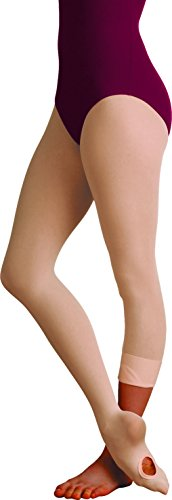 Body Wrappers Women's Total Strech Convertible Tights - A31, Jazzy Tan, Small/Medium