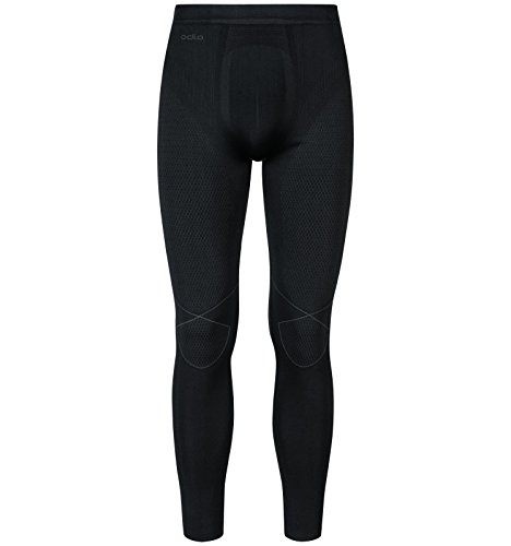 Odlo Herren Evolution Warm Tights, Black Graphite Grey, L