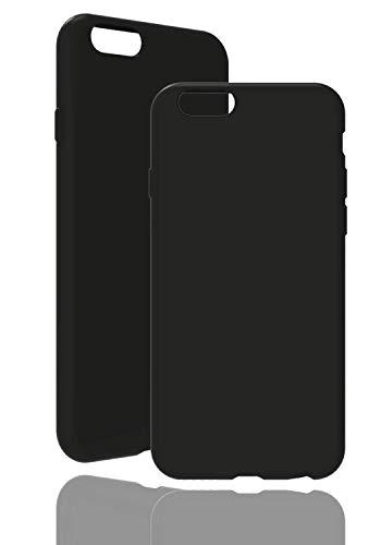 inv. [Compatible con Apple iPhone 6/6S, en negro original funda de silicona – Alta calidad, acabado perfecto – Carcasa de silicona sencilla