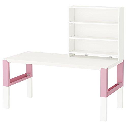 Zigzag Trading Ltd IKEA PAHL - Escritorio con estantería Blanco/Rosa