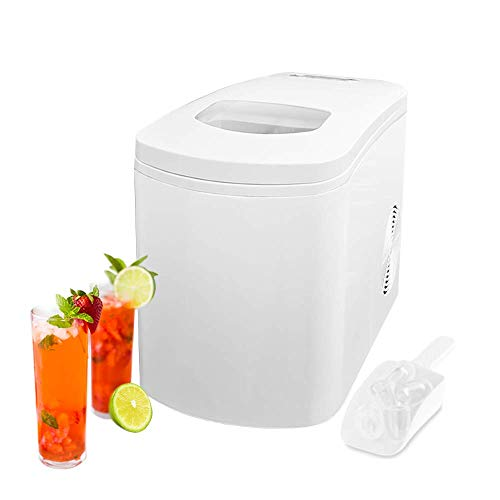 Glacier White Countertop Portable Compact Ice Maker with ice scoop, Ice Cube Machine, for Home Office Party, Boat RV