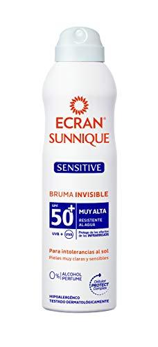 Ecran Sunnique Sensitive, Bruma Solar para Pieles Muy Claras, Sensibles e Intolerantes al Sol, con SPF50+ - Formato Familiar de 300 ml