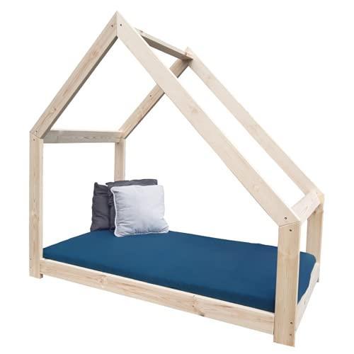NeedSleep - Cama infantil (80 x 160 cm, sin protección anticaídas, 70 x 140, 80 x 160, 90 x 180, diseño escandinavo, para niñas y jóvenes, asimétrico)