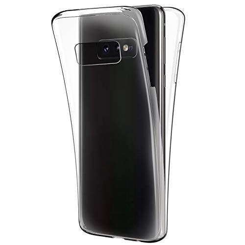 Schutzhülle für Galaxy S10, [Rundum-Schutz], kristallklar, ultradünn, kratzfest, Vorder- und Rückseite, volle Abdeckung, weiches TPU-Silikon-Gummi, Schutzhülle für Galaxy S10 Galaxy S10e farblos
