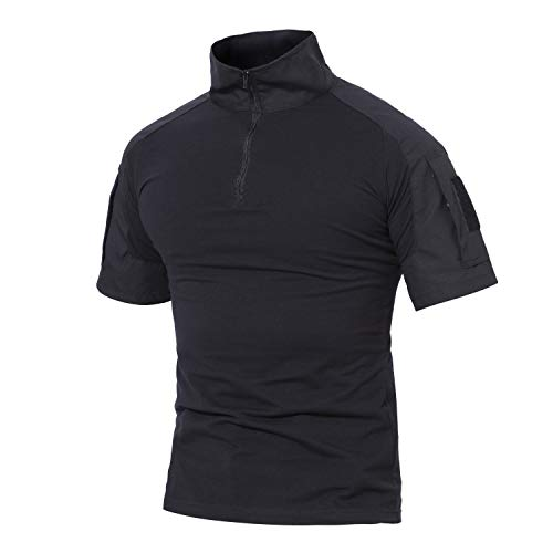 MAGCOMSEN Outdoor Tactical Military Slim Fit T-shirt Lange mouw met Rits