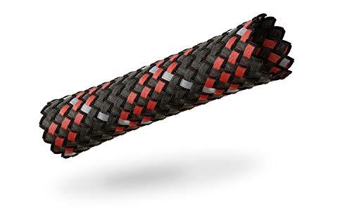VIABLUE Sleeves * Geflechtschlauch * RED/ROT * Größe MEDIUM für Kabel-Ø von 5 bis 13 mm * Meterware * Gewebeschlauch/Kabelschutzhülle/Kabelschlauch * per m
