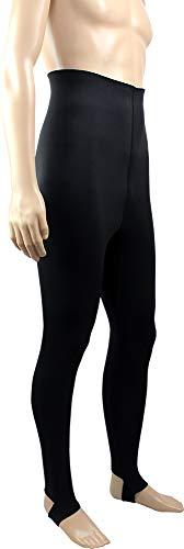 DELLING 日本製 ウェットスーツ インナー レギンス(トレンカ)メンズ AIR SKIN(エアースキン)ブラックメタリックス 1mm スキンゴム生地 防寒インナー 保温インナー ロングパンツ ドライスーツ インナー (L)