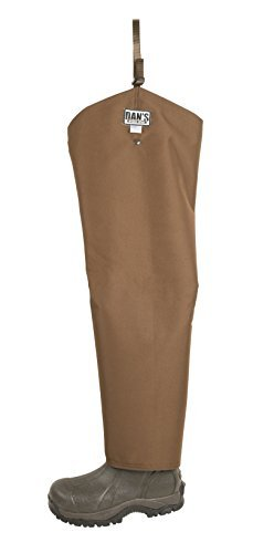 Snake Proof, Briar Proof, Waterproof Hip Waders, Made in U.S.A. (Mens Boot Size 11 - Chap Size 27 Thigh/29 Inseam) Brown