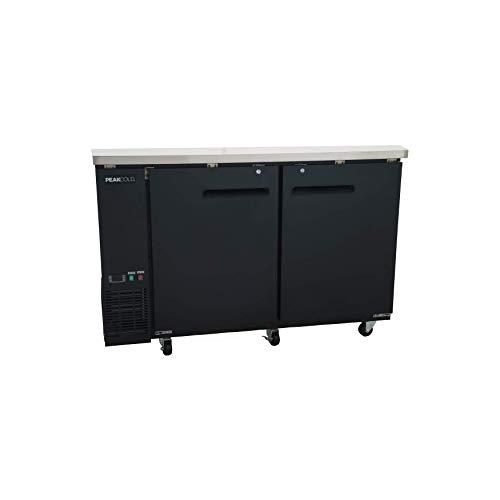 "PEAK COLD 2 Door Commercial Back Bar Cooler; Beer Fridge; Under Counter Refrigerator; 60"" W"
