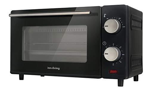 Innoliving INN-790 Horno eléctrico de 10 litros con termostato y temporizador, acero, BLACK