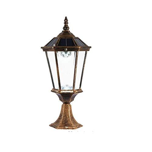 XYZMDJ Schijnwerper in de vrije muur, spot lamp, waterdicht paallicht, gegoten aluminium, corrosiebescherming, lantaarnpaal, voor hek, deurpalen