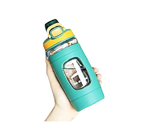 RYTR Botella de agua deportiva, botella de agua Tritan sin BPA/Taza deportiva portátil masculina y femenina-green_550ml/deportiva para gimnasio, entrenamiento, viajes, oficina.