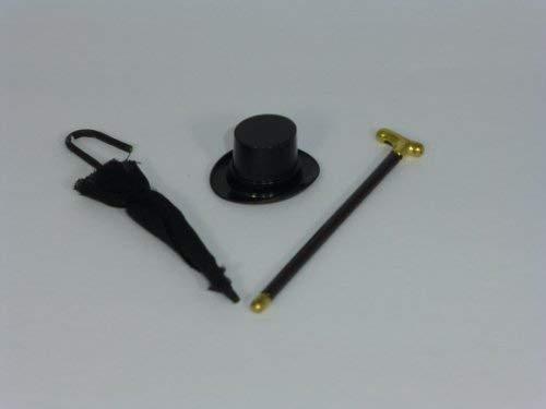 Unbekannt Creal 73805 Chapeau, Parapluie, Stock Set pour Maison de Poupées - Neuf !