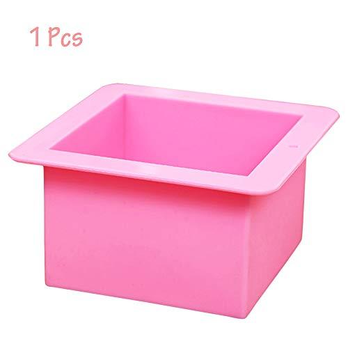 2 moldes de jabón cuadrados de silicona