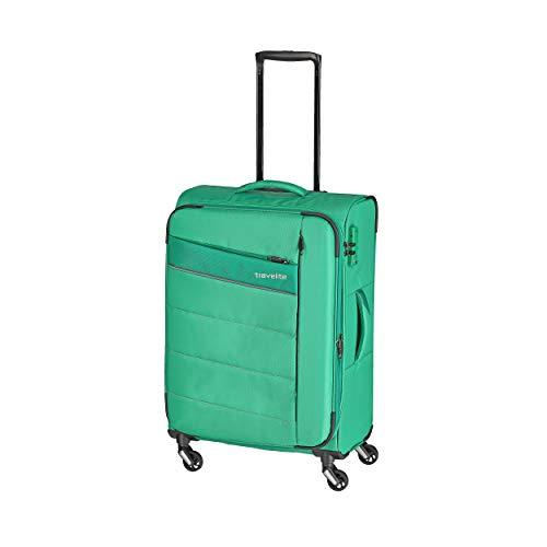 """Travelite Extrem leicht: """"KITE"""" – sportlich-klassische Trolleys, Trolley-Reisetaschen und Bordtaschen Koffer, 64 cm, 67L, Grasgrün"""