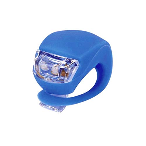 LED-Fahrradlichter, 4 Stück, Fahrradlicht vorne und hinten, Silikon, LED-Fahrradlampe mit wasserdichtem Silikongehäuse, nicht wiederaufladbar