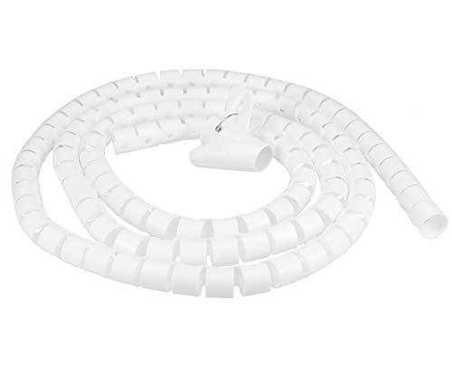 mumbi Kabelspirale, flexibler Kabelschlauch, universal Kabelkanal, 2,5m - Ø 25mm, in Weiss