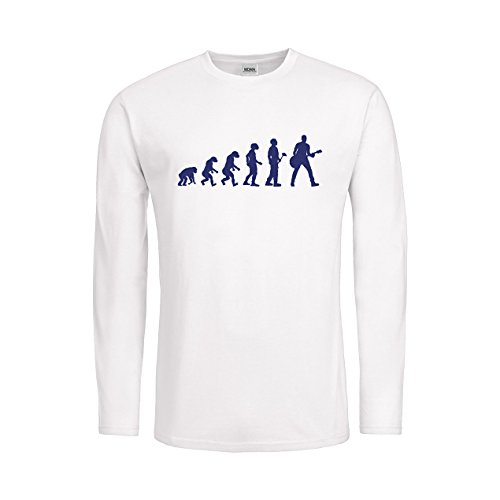 Jugador Men–Camiseta manga larga Evolution Teoría guitarrista mdma de mtls00367 Blanco white / violett Talla:small