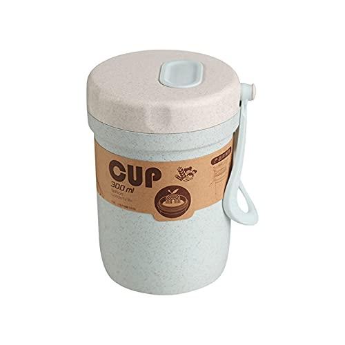 Fiambreras Para Niños 300 ml Caja de sopa sellada Fugas a prueba de fugas Lunchbox Ecoamiliares Accesorios Redondos Comida Comida Prepare Bento Box Microondavable Almuerzo Cajas ( Color : Sky Blue )