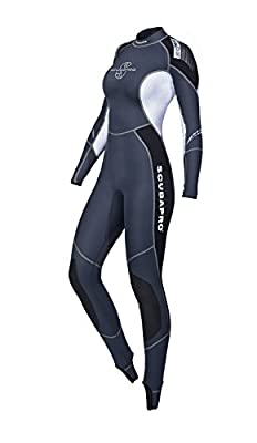 Scubapro Womens Profile Steamer 0.5mm First Layer Wetsuit (Black/Gray/White, Medium)
