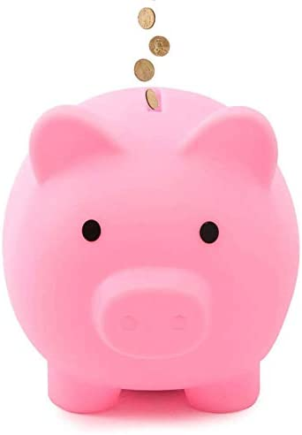 IPEAIN Cute Plastic Pig Money Bank Unbreakable Piggy Bank Toy for Boys Girls Kids Toddler Adults product image