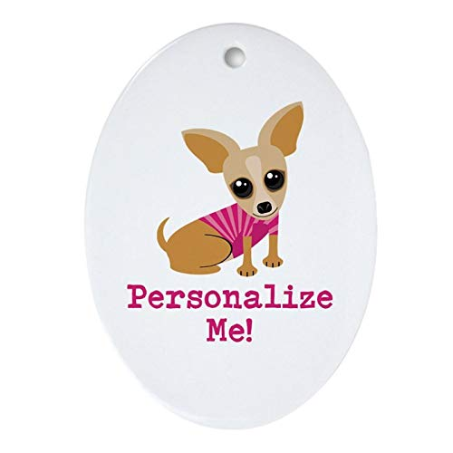 Christmas Tree Ornament, Custom Pink Chihuahua Ornament (Oval) Merry Christrmas Trees Hanging Ornaments Traditional Xmas Tree Ornament in USA