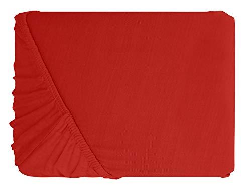 #12 npluseins Kinder-Spannbettlaken, Spannbetttuch, Bettlaken, 70×140 cm, Rot - 2